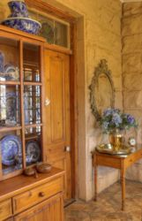 The sideboard in our quaint sandstone cottage.