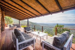 Main lodge deck overlooking the Lebombo Mountains