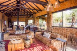 Indoor main lodge lounge area