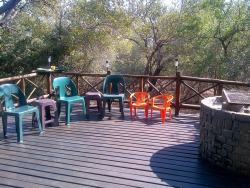 Deck / Entertainment and Fire Place to braai