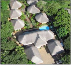 aerial view of lodge
