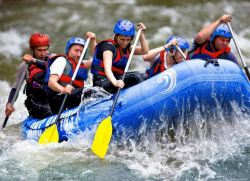 White water rafting in Clarens