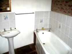 Lothlorien Cottage - Bathroom with bath, basin, toilet and double sized shower