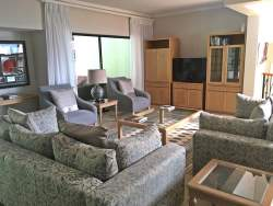 Comfortably furnished lounge