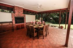 Undercover veranda with built in braai area
