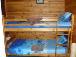 Adult Size Bunk Beds in the Blue Room