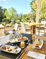 Breakfast at our on site restaurant - Restaurant Succulent by Chef Werner Snoek