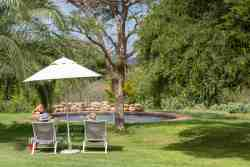 One of the two swimming pools.  For the use of our in-house guests only