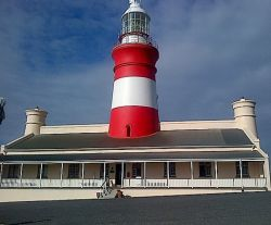 One of the most beautiful  + oldest lighthouses, Cape Agulhas, southern most tip of South Africa.