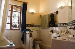 Our bathrooms are airy and big to give you space. The Lodges feature a tub cum shower, the Chalets are equipped with a spacious  shower.