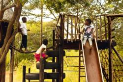 Children are welcome. Kids are safe to roam around and test their skills on the playground.