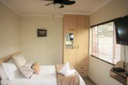 Unit 3 has one bedroom with double bed and a bunk bed and single bed in living area.