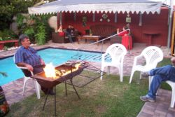 Braaiing at the pool