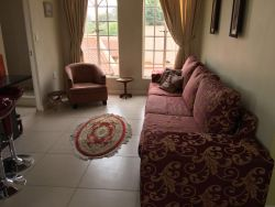 Self Catering Apartment guests enjoy an open Lounge & Dining & Kitchen Area with Airconditioning, Underfloor Heating, 42' LED TV and own Explora with full DSTV Premium.