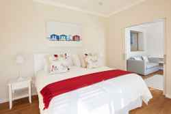 En-suite bedroom 3 with separate study, lounge with sofa bed and direct pool access