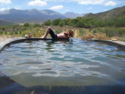 Beautiful views of the Olifants Valley and Swartberg Mountains from the shaded pool area.