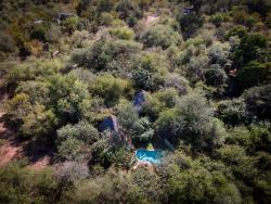 Aerial photo of camp 100m from Crocodile river bordering Kruger National Park