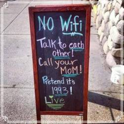 Time to share one on one, but there is wi-fi for those that need at a nominal cost.
