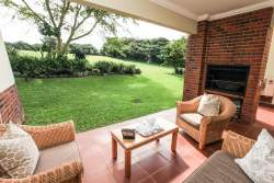 Veranda with built in braai area