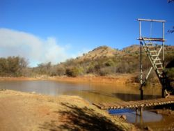 Dam with a Zip-slide and braai.