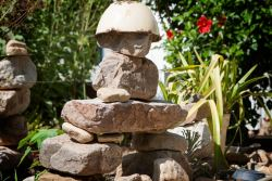A Stone Man in the Garden