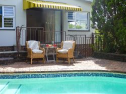 Enjoy breakfast alfresco by the pool