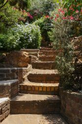 Garden steps, the cottage is on third tier down so expect some steps