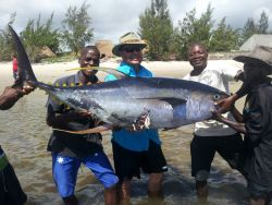 Tuna caught weighing in at 91.6kgs