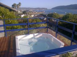View of the Knysna Heads and Lagoon from the Jacuzzi
