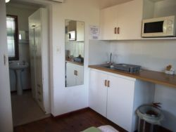No 2 The Leisure Kitchenette & bathroom