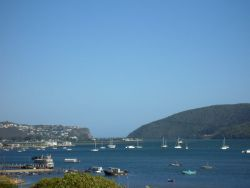 View across Knysna Lagoon to the Knysna Heads from Paradise Heads Self-Catering