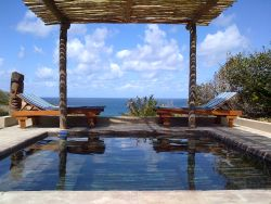 Each Villa has it's own swimming-pool, with beautiful sea views