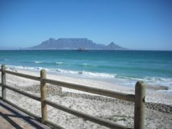 View of Cape Town from beachfront