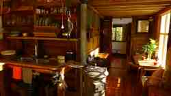kitchenette area. Boutique Vintage Forest Cabin