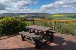 Deck with views across Overberg