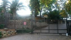Entrance gate to Hotel