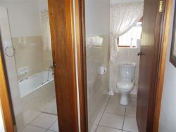 Bathroom and toilet separate.