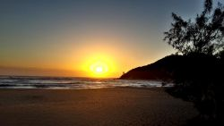 Sunrise at the main Beach of Ponta