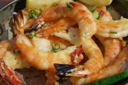 Delicious Prawns Served in Our Restaurant