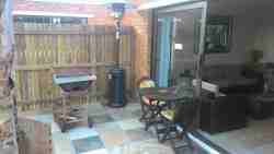 BBQ patio area