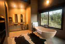 Honeymoon & Luxury Bush Villa bathroom