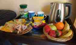 Fruit , Tea , buisket and  coffee basket.