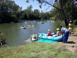 You can book river rafting that launches off our private river front