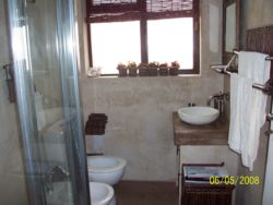 2nd Bathroom which is shared between 2nd&3rd Bedroom.Shower,bidet,stone hand basin and toilet.