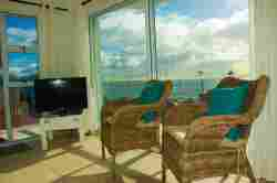 lounge area with sea view from one of the units