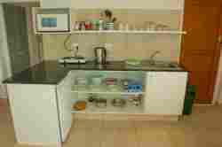 a newly refurbished kitchen in one of the units.