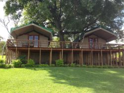 Luxury River Frontage Bush Tent en-suite with outdoor shower and A/C. Sleeps maximum 2 guests