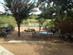 Our Bush Boma on the banks of the Sabie River overlooking the Kruger National Park