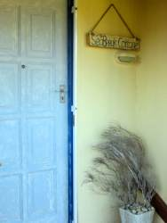 Front door to SeaBreak cottage