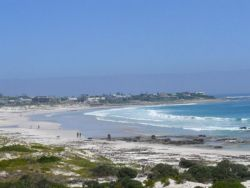View towards Kommetjie from our beach gate on to the dunes
